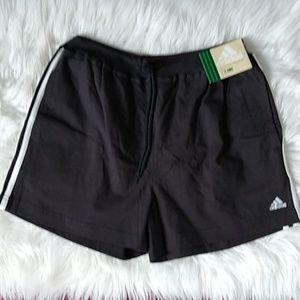 Adidas women's athletic tie waist band gym short